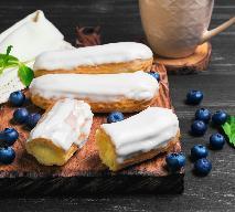 Waniliowe eklerki z kremem - prosty przepis na deser