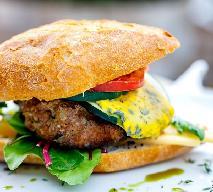 Cheeseburger wołowy z boczniakami [przepis na zdrowego, domowego cheeseburgera]