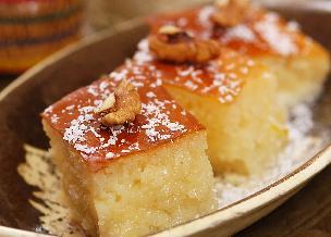 Revani - tureckie ciasto biszkoptowe z pomarańczową nutą